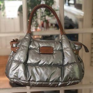 Silver quilter Kate Spade handbag/diaper bag